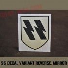 german helmet decal SS, 1rst pattern 'mirror'