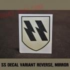 insigne pour casque allemand SS 1er variante 'mirroir'