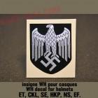 insigne, decal heer pour casque allemand de la wehrmacht