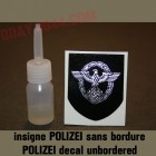 german helmet decal POLIZEI unbordered