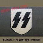insigne, decal SS pour casque allemand (1er modèle)