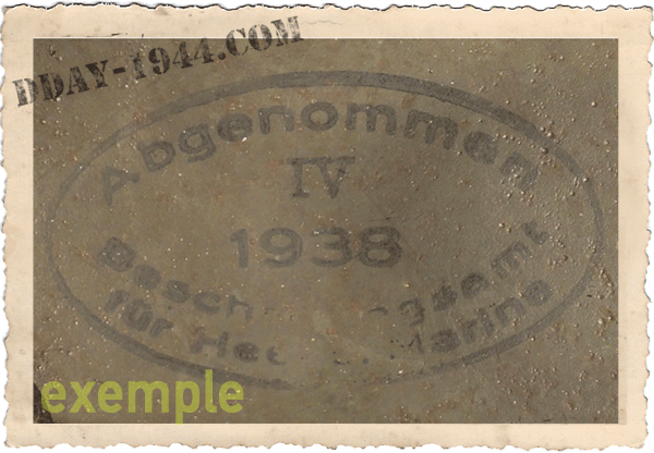 german helmet dome stamp ww2
