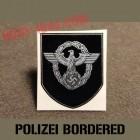 insigne, decal polizei pour casque allemand