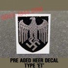 PRE-AGED HEER GERMAN DECAL