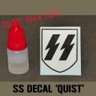 insigne SS 1er modèle (fond très métallique) 'QUIST'