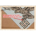PRE-AGED LUFT GERMAN DECAL, pattern 'claws on swastika'
