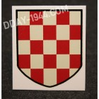 CROATIAN HELMET DECAL NATIONAL COLORS