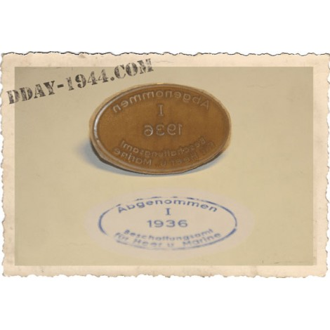 DOME ACCEPTANCE STAMPS FOR WW2 GERMAN HELMET 1936