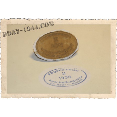 DOME ACCEPTANCE STAMPS FOR WW2 GERMAN HELMET 1937