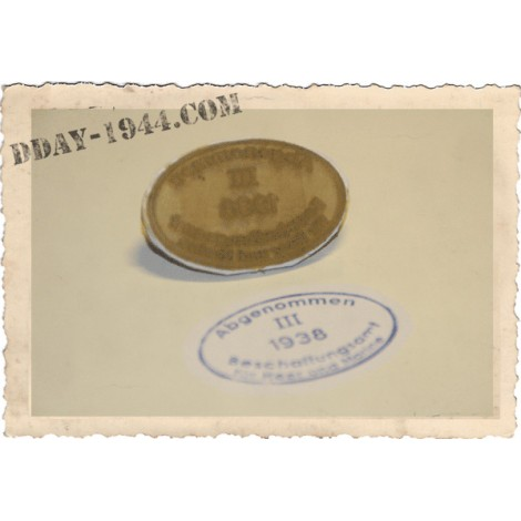 DOME ACCEPTANCE STAMPS FOR WW2 GERMAN HELMET 1938