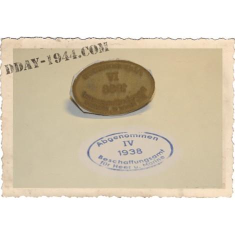 TAMPON DE RECEPTION POUR CASQUE ALLEMAND '1938'