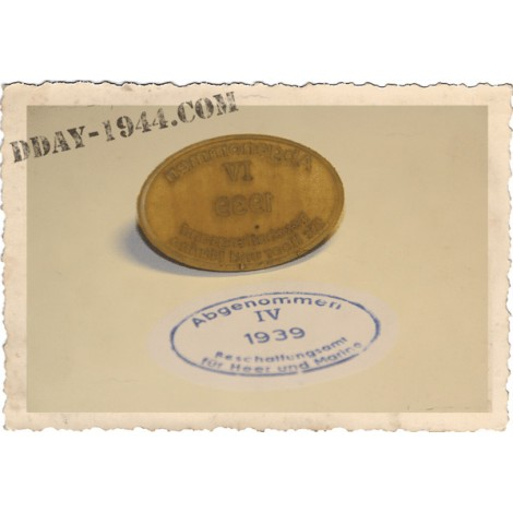 DOME ACCEPTANCE STAMPS FOR WW2 GERMAN HELMET 1939