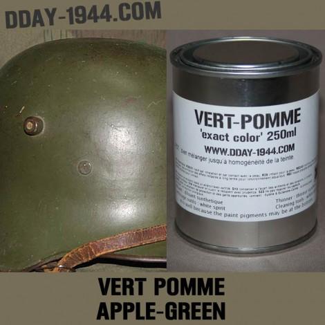apple green german helmet