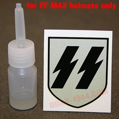 german helmet decal SS 1rst pattern 'EF'