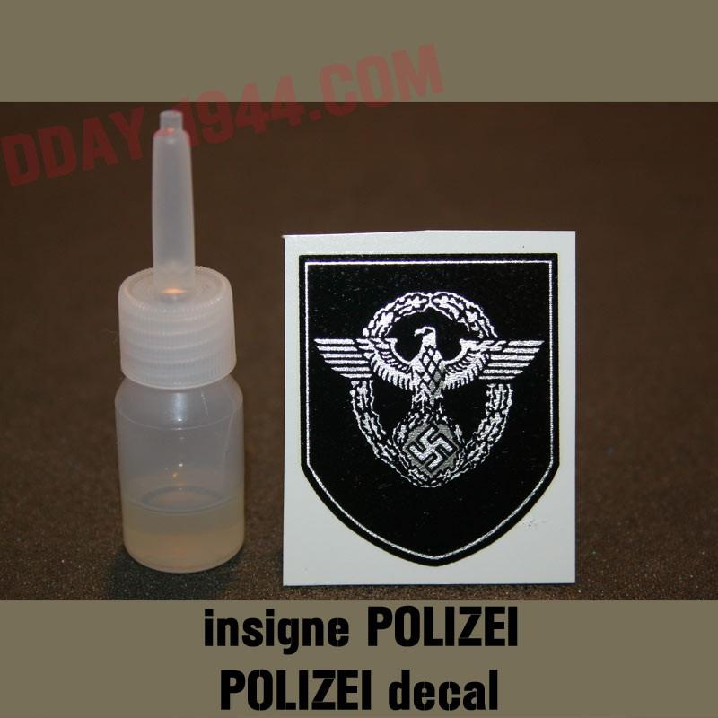 german helmet decal POLIZEI bordered - www dday-1944 com