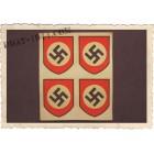 planche de 4 insigne swastika, aspect ancien