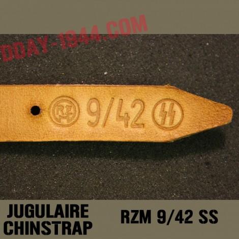 GERMAN HELMET CHINSTRAP MARKED 'RZM 2/40 SS'