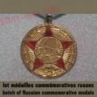 batch of Russian commemorative medals