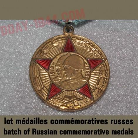 lot médailles commémoratives russes