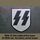 insigne, decal SS pour casque allemand (2ème modèle)