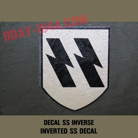 german helmet decal SS early, first pattern