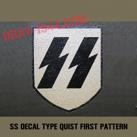 german helmet decal SS early, firs pattern