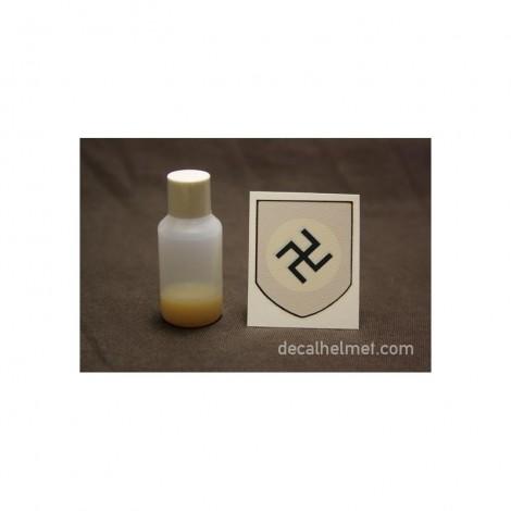insigne, decal swastika pour casque allemand (croix fine)
