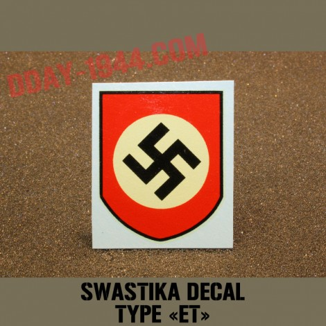"swastika decal ""ET"""