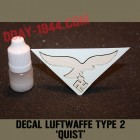 german helmet decal luft, quist