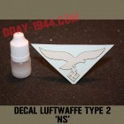 german helmet decal luftwaffe type NS