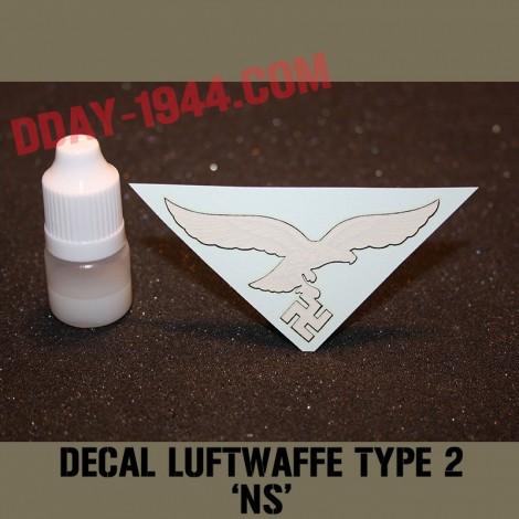 german helmet decal luftwaffe type NS