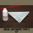 german helmet decal luftwaffe type ET