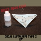 german helmet decal luftwaffe type EF