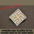 decal swastika fire police helmet