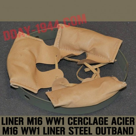 LINER OUTBAND STEEL FOR WW1 GERMAN HELMET MOD.16LINER OUTBAND LEATHER FOR WW1 GERMAN HELMET MOD.16 available in 4 sizes