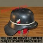fire brigade helmet, luftwaffe