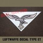 german helmet decal luftwaffe type EF