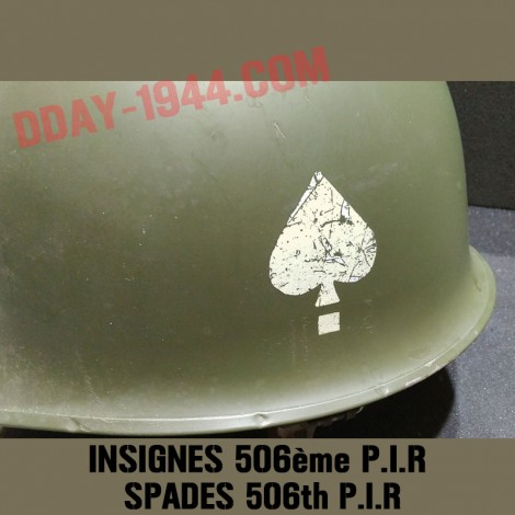 DECALS 506th PIR stencilled on decal paper, hand patinated