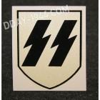 insigne, decal SS pour casque allemand, 1er modèle