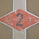 insignes pochoirs sur papier décalcomanie